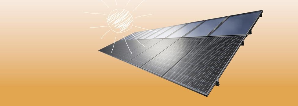 KIOTO Solar 2 az 1-ben típusú kombinált rendszer